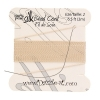 Dazzle-it 100% Silk Bead Cord with needle 2M #2(0.45mm) Beige